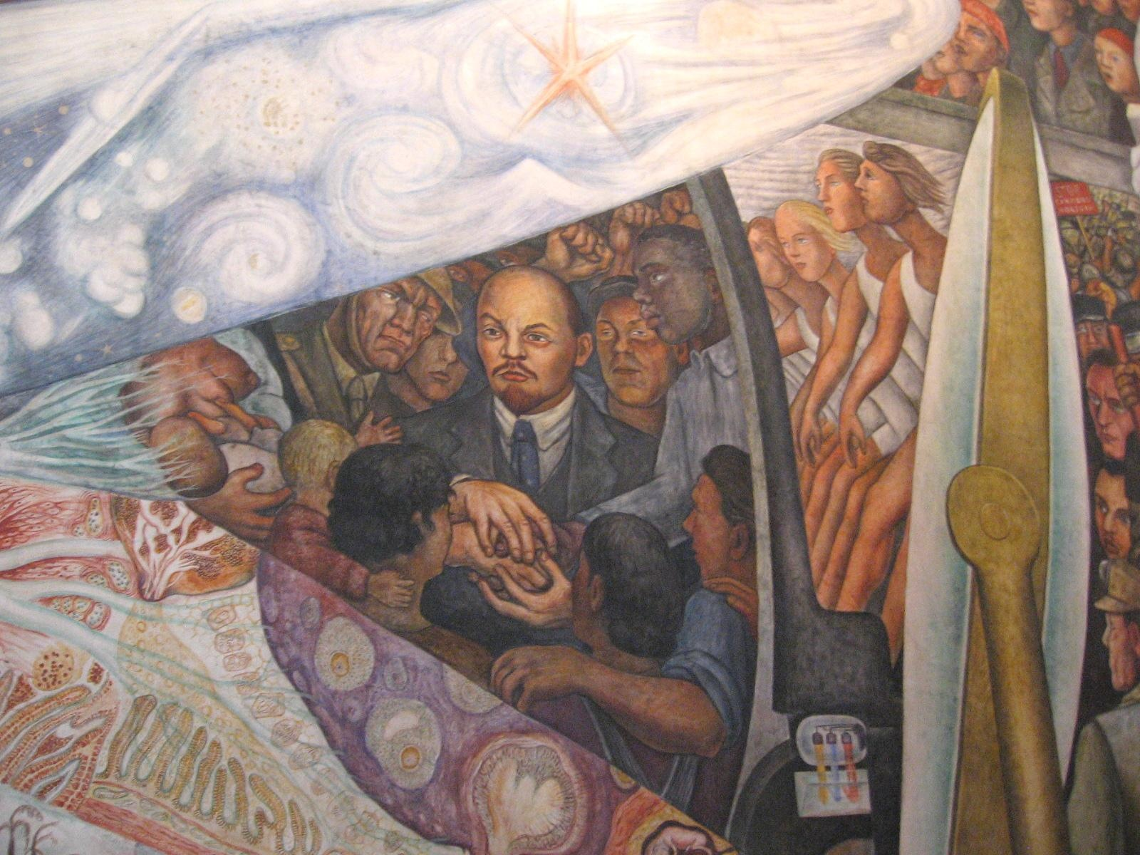 A baroque lenin july 2014 for Diego rivera lenin mural